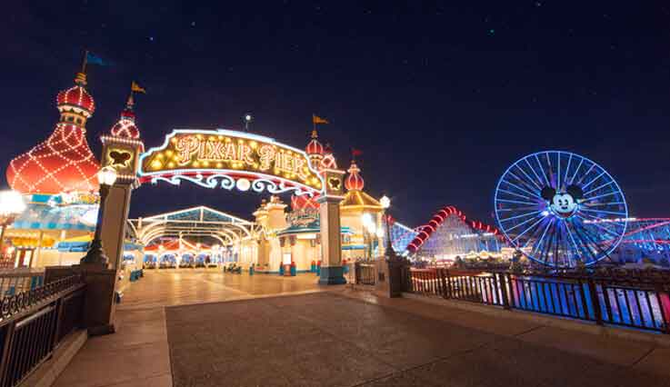 Disneyland Pixar Pier entrance