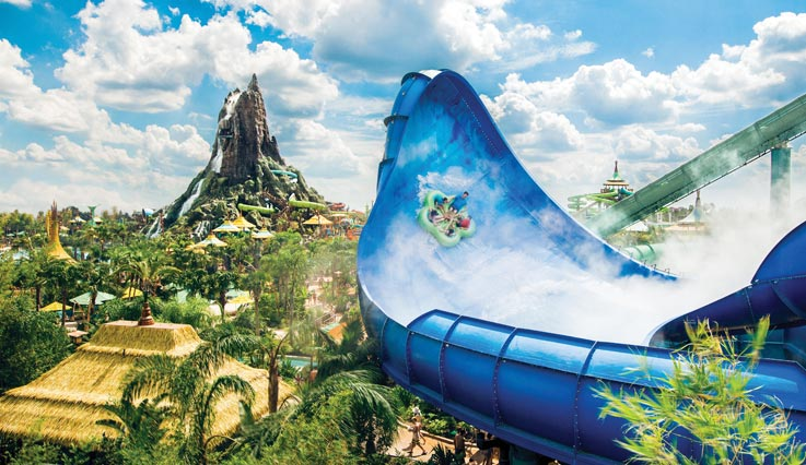 Volcano bay waterslide
