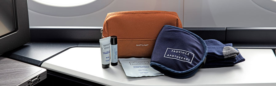 Business cabin amenities