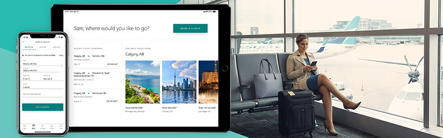 WestJet app on apple watch ipad ipod and android devices