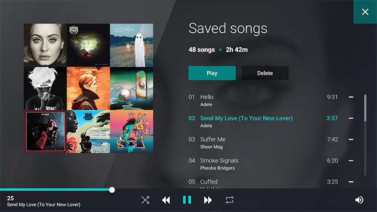 Playlist featuring saved songs by various artists