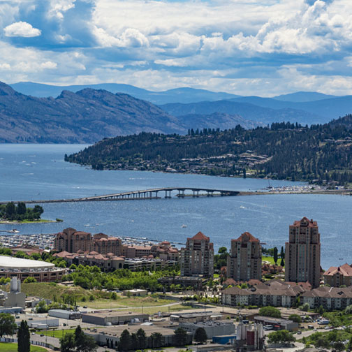 View overlooking Kelowna