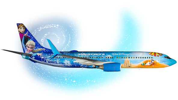 Avion Disney Reine des Neiges