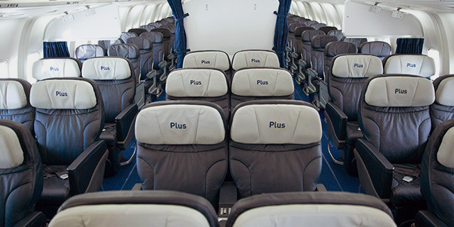 Plus fare 767 wider seats extra legroom