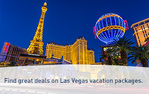Find great deals on Las Vegas vacation packages.