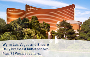 Las Vegas. Daily breakfast buffet for two. Plus 75 WestJet dollars.
