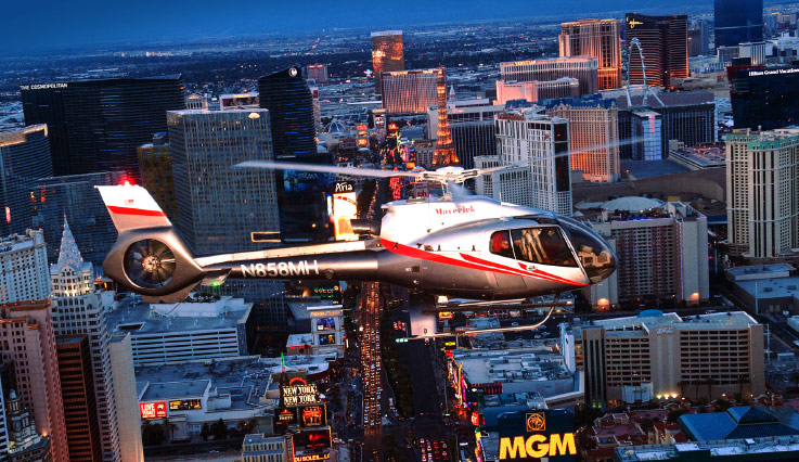 Helicopter ride over the Strip