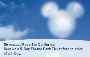 Disneyland Resort Theme Park Ticket offer from WestJet.