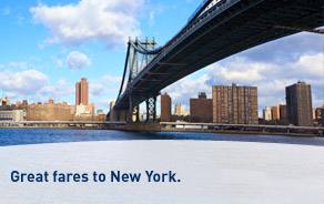 Great fares to New York.