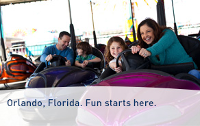 Low fares to Orlando, Florida.