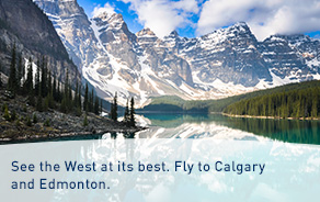 Flights to Calgary and Edmonton