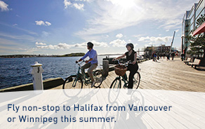 Non-stop flights to Halifax this summer.