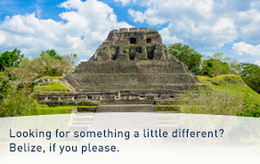 Low fares to Belize.