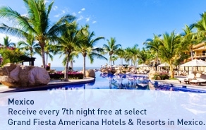 Receive every 7th night free at select Grand Fiesta Americana Hotels & Resorts in Mexico.
