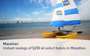 Instant savings of $200 per room at select hotels in Mazatlan.