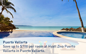 Save up to $700 per room at Hyatt Ziva Puerto Vallarta in Puerto Vallarta.