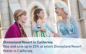 Stay and save up to 25% at select Disneyland Resort Hotels in California.