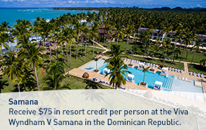 Receive a $75USD Resort Credit.
