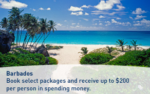 A Barbados Island inclusive offer.
