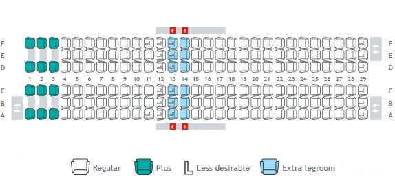 Sunwing Aircraft 737 800 Seating The Best And Latest
