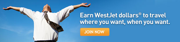 Earn WestJet dollars® to travel where you want, when you want.