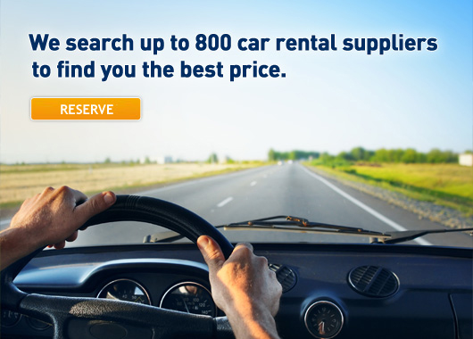 We search up to 800 car rental suppliers to find you the best price. Reserve now.