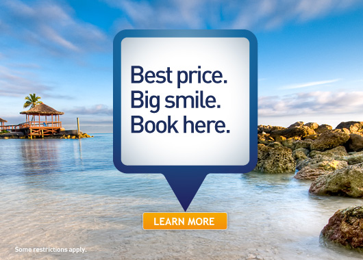 Book direct. Best price. Big smile. Book today.