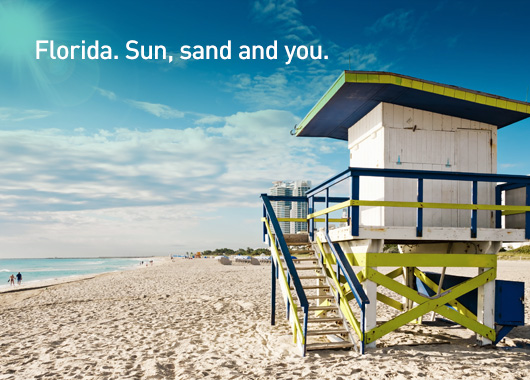 Florida. Sun, sand and you.