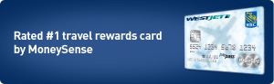 Rated #1 travel rewards card by MoneySense.