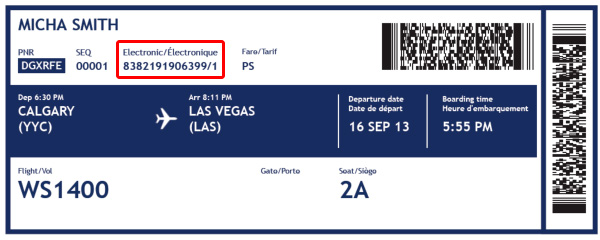 Where can I find my ticket number – E Ticket Template