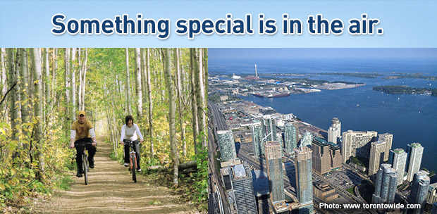 Something special is in the air. Earn WestJet dollars even faster when flying to/from Fort McMurray.~ Toronto photo: www.torontowide.com.