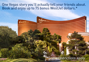 One Vegas story you'll actually tell your friends about. Book and enjoy up to 75 bonus WestJet dollars