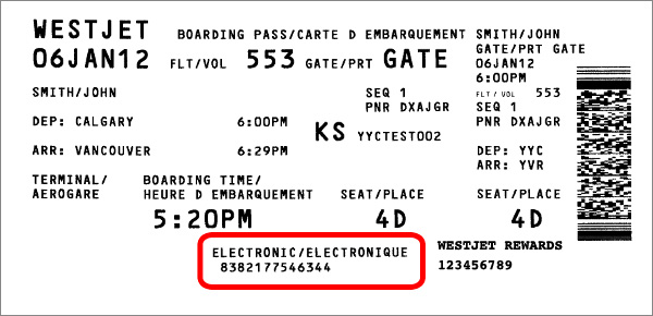 Kiosk Check-in Boarding Pass