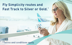 Fly Simplicity routes and Fast Track to Silver or Gold*