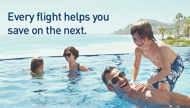 Every flight helps you save on the next.