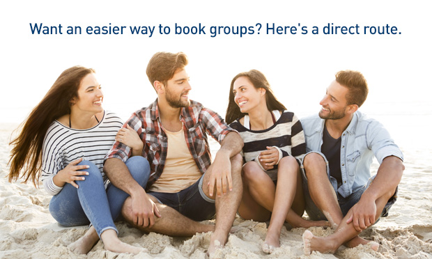 Want an easier way to book groups? Here's a direct route.