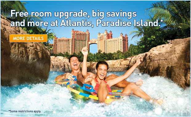 Free room upgrade, big savings and more at Atlantis, Paradise Island.