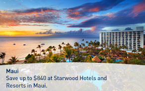 Save up to $840 at Starwood Hotels and Resorts in Maui.