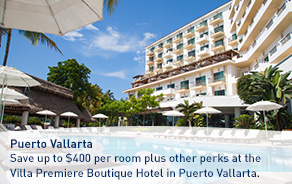 Save up to $400 per room plus other perks at the Villa Premiere Boutique Hotel in Puerto Vallarta
