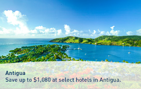 Save up to $1,080 at select hotels in Antigua.