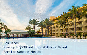 Save up to $230 and more at Barceló Grand Faro Los Cabos in Mexico.