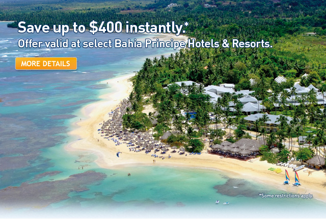 Save up to $400 on your flight and hotel package.