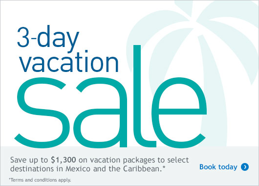 3-day vacation sale