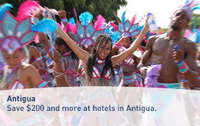 Save $200 and more at hotels in Antigua.