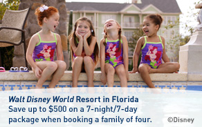 Save up to $500 on a Walt Disney World Resort vacation package