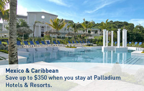 Save up to $300 at Palladium Hotels & Resorts.