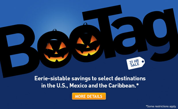 Eerie-sistable savings on vacation packages to the U.S., Mexico and the Caribbean.*